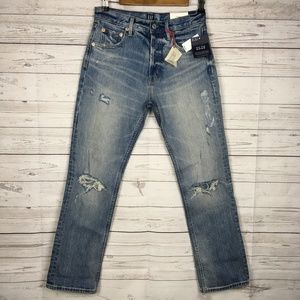New! GAP Straight Super High Rise Jeans Womens 26